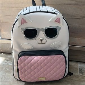 Betsey Johnson cool cat backpack